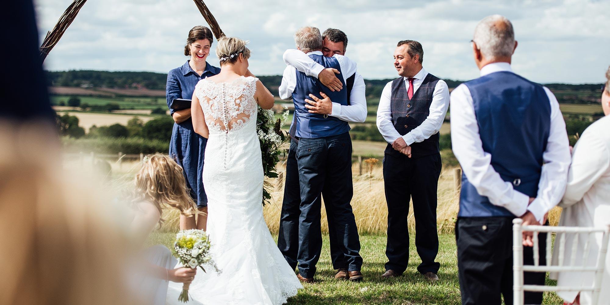 Happy moment during wedding ceremony | Humanist Wedding Celebrant Laura Gimson